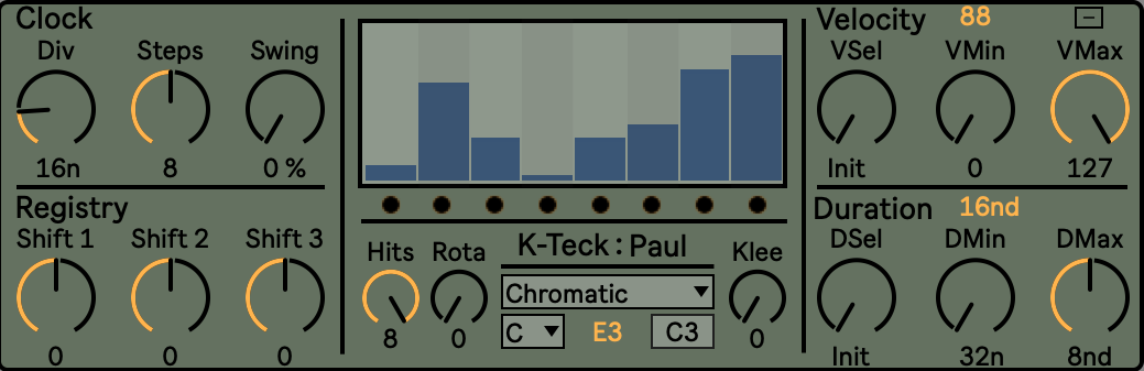Paul: Euclidean Shift Register Sequencer