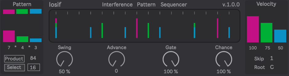 Iosif – Interference Pattern Step Sequencer